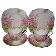 Royal Albert - Blossom Time - Teacup Trios (6pcs)