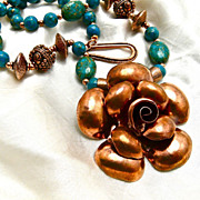 My Wild Copper Rose Necklace, 21-1/2 Inches
