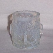 Opalescent  Glass Toothpick Holder