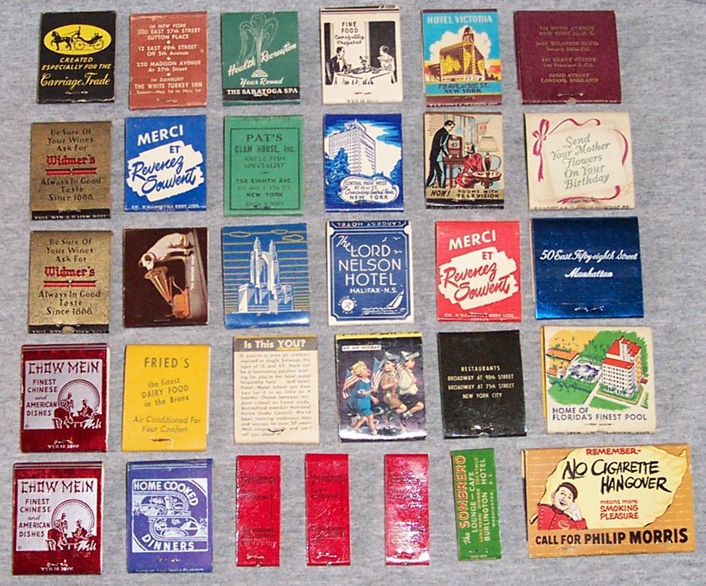 vintage match books