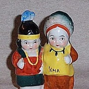 Vintage Indian Salt and Pepper Shakers