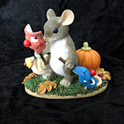 "Charming Tails ""Put on a Happy Face"" 85/100 by Fitz and Floyd Figurine"