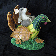 "Charming Tails ""Turkey Traveller"" 85/702 by Fitz and Floyd Figurine"