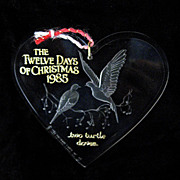 1985 The Twelve Days of Christmas Hallmark Ornament  Two Turtle Doves