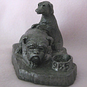 """TWO-MUCH"" - 1985 Collector's Society Pewter Sculpture by Michael Ricker"