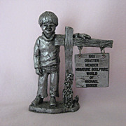 �Michael� - 1981 Exclusive Charter Membership pewter piece by Michael Ricker