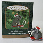 LOYAL ELEPHANT, a Miniature Hallmark Ornament - 2000