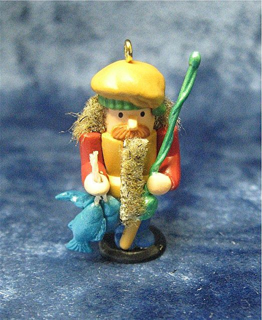 FISHERMAN Nutcracker, a Miniature Hallmark Ornament - 1996