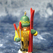 SKIER Nutcracker, a Miniature Hallmark Ornament - 1998