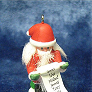 SANTA CLAUS Nutcracker, a Miniature Hallmark Ornament - 2000