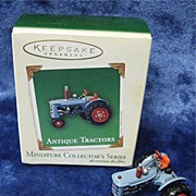 """ANTIQUE TRACTOR"", a Miniature Hallmark Ornament -- 2003"