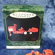 1955 MURRAY Tractor and Trailer, Miniature Hallmark Ornament - 1999