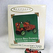 SALE JINGLE BELL EXPRESS, a miniature Hallmark Ornament -- 2003