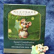 SWEET CONTRIBUTION, a Miniature Hallmark Ornament - 2001