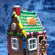 """Gingerbread Home"", a Crayola LIGHTED Crayon Hallmark Ornament -- 2004"