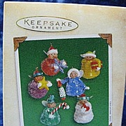 """Sugar Plum Fairies"", set of 6 Miniature Hallmark Ornaments - 2002"