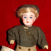 "Antique Gerbruder Kuhnlenz 8"" German doll"
