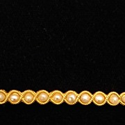 Elegant Edwardian, 1900's Pearl, Gold Bar Pin