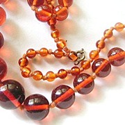 Honey Glass Beads Necklace