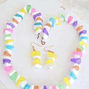 Funky Fun Candy Colored Necklace & Earrings