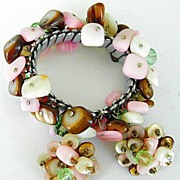 Pinks Browns Whites Stones Crystals Demi Parure