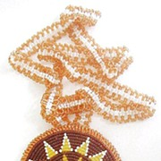 Huge Native American Beaded Pendant Necklace