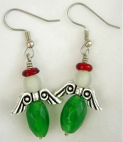 Christmas Angel Earrings