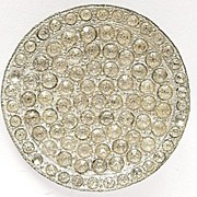 Vintage Big Rhinestones Button