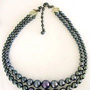 Shades of Purple Double Strand Beads Necklace