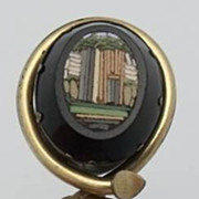SALE Antique Micro Mosaic Stick Pin Architectural Scene