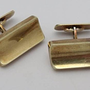 Elegant 14K Yellow Gold Cufflinks 13.7g
