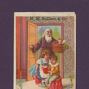 1878 Sollers & Co. Christmas Santa Trade Card