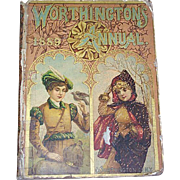 SALE 1889 Worthington's Annual Children's Book