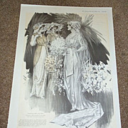1913 Bride & Her Bridesmaids Fashion Ad