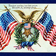 Embossed Patriotic Decoration Day Tuck Postcard
