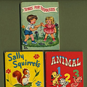 Three 1949-50 Tiny Tales Children's Books by Whitman