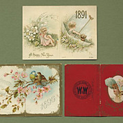 3 Charming Little Advertising Calendars 1891-1896-1902