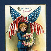 Embossed Patriotic Postcard by Ellen Clapsaddle
