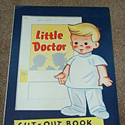 1950 Little Doctor Paper Doll Cut Out Book - Uncut