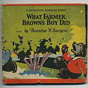1927 Cubby Bear Thornton Burgess Children's Book