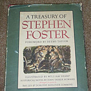SALE 1946 A Treasury Of Stephen Foster Songs Book Black Americana