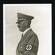 1938 Real Photo Adolph Hitler In Uniform Postcard