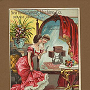 SALE PENDING New Home Sewing Machine Advertising Trade Card