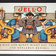 SALE 1924 King & Queen Jello Advertisement Illustrated By Maxfield Parrish