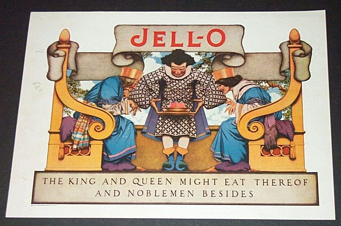1924 King & Queen Jello Advertisement Illustrated By Maxfield Parrish