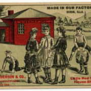 C.M. Henderson Red School House Shoes Advertising Trade Card