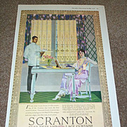 1919 Scranton Lace Curtains Ad by Coles Phillips