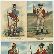 Complete Set 20 British Regiments Ticonderoga Postcards