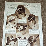 1916 New Fashion Hats For Early Spring