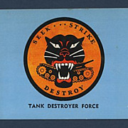 Military Insignia Tank Destroyer Force Postcard